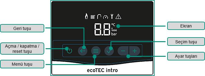 Vaillant ecoTEC intro VUW 24/28 AS Yoğuşmalı Kombi